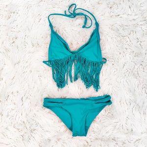 L Space fringed bikini set